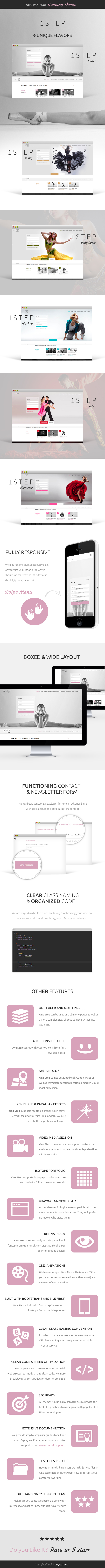 One Step - Creative Ballet HTML Template